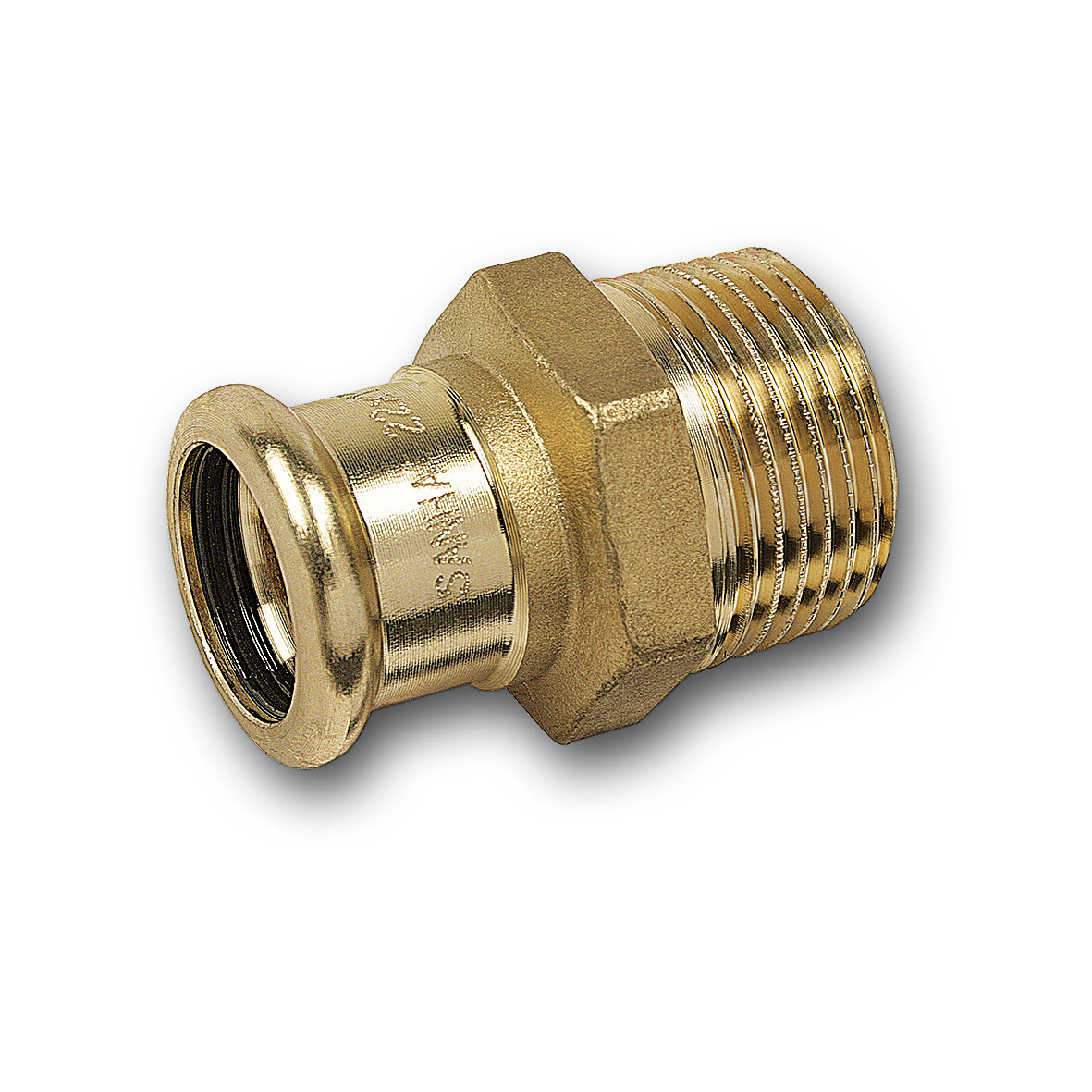 male adaptor with female end & male thread