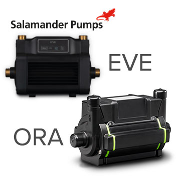 ORA and EVE Shower Pumps