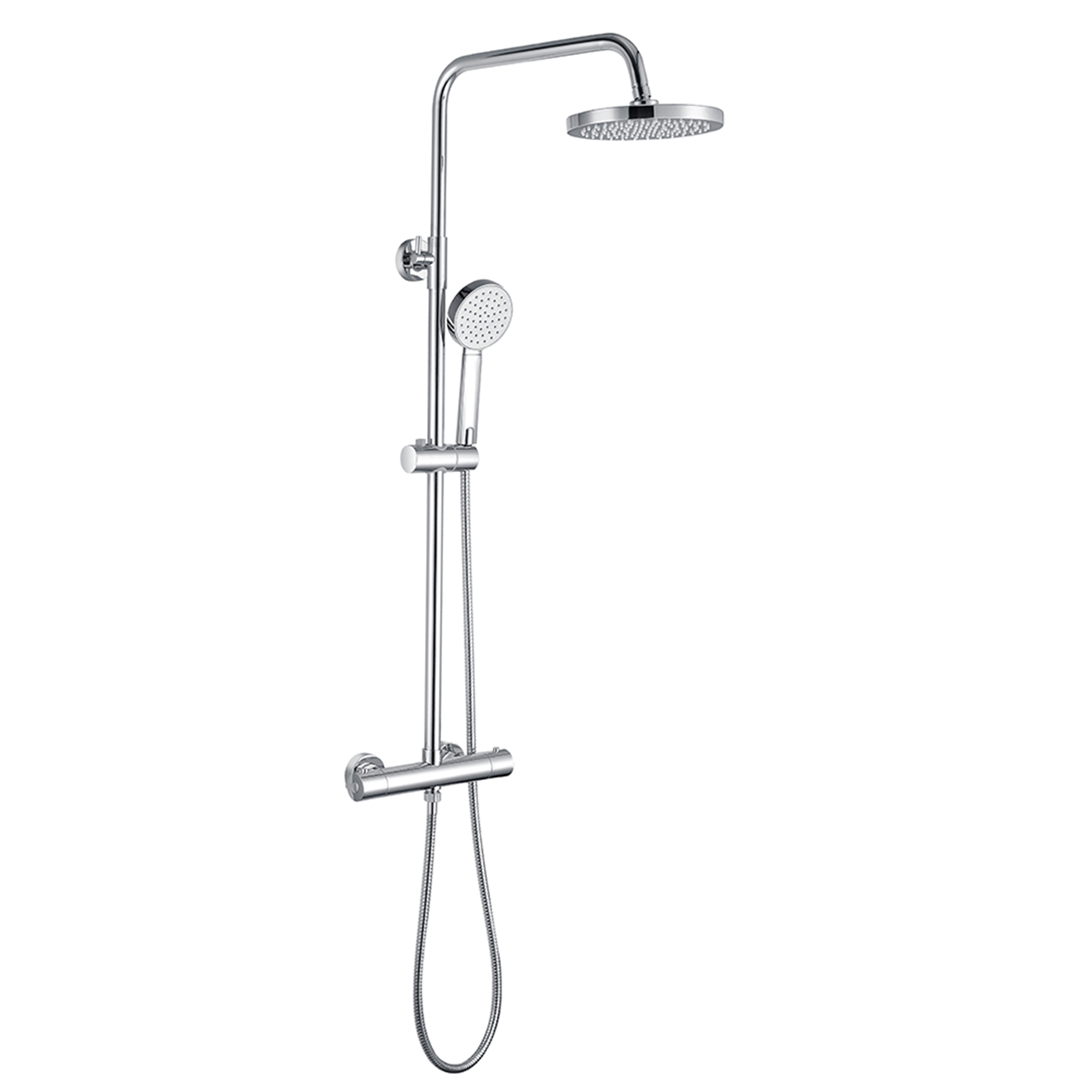 Contract Cascade - Thermostatic Round Shower Kit