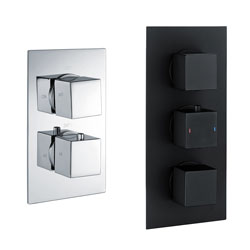 Square Concealed Thermostatic Valves
