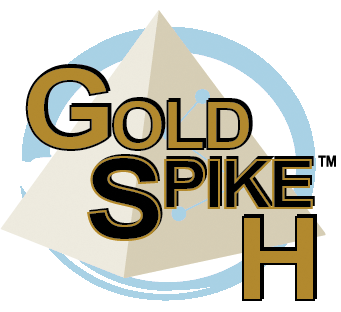 Gold spike h logo , Healthy gut healthy you