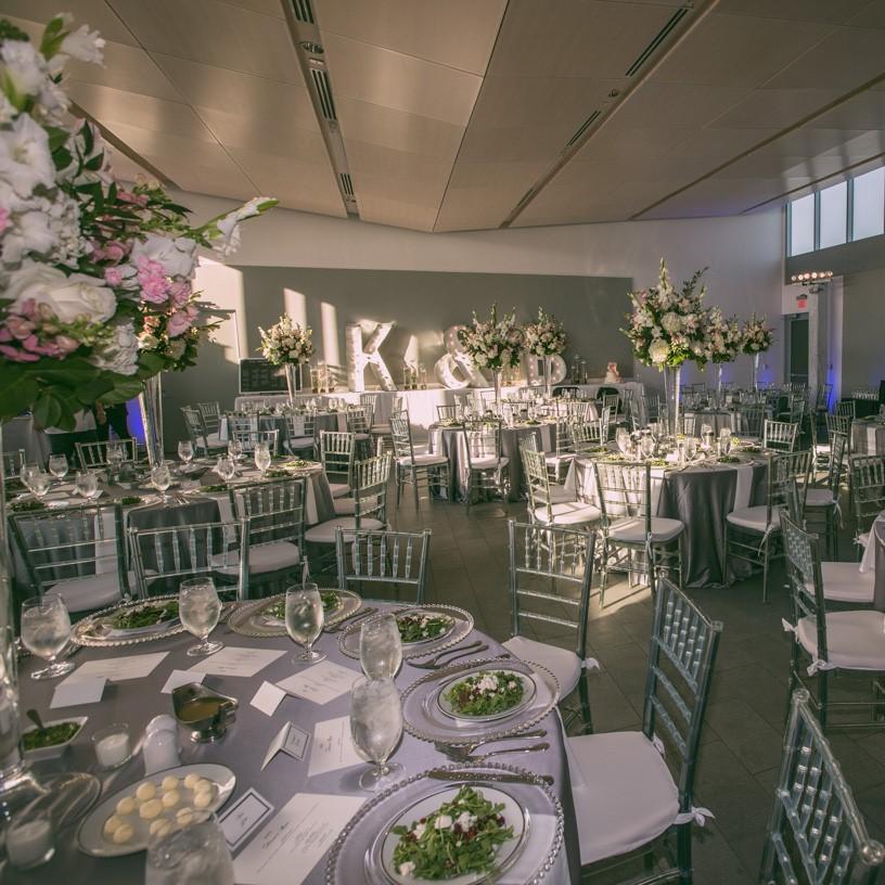 The couples wedding reception decor.