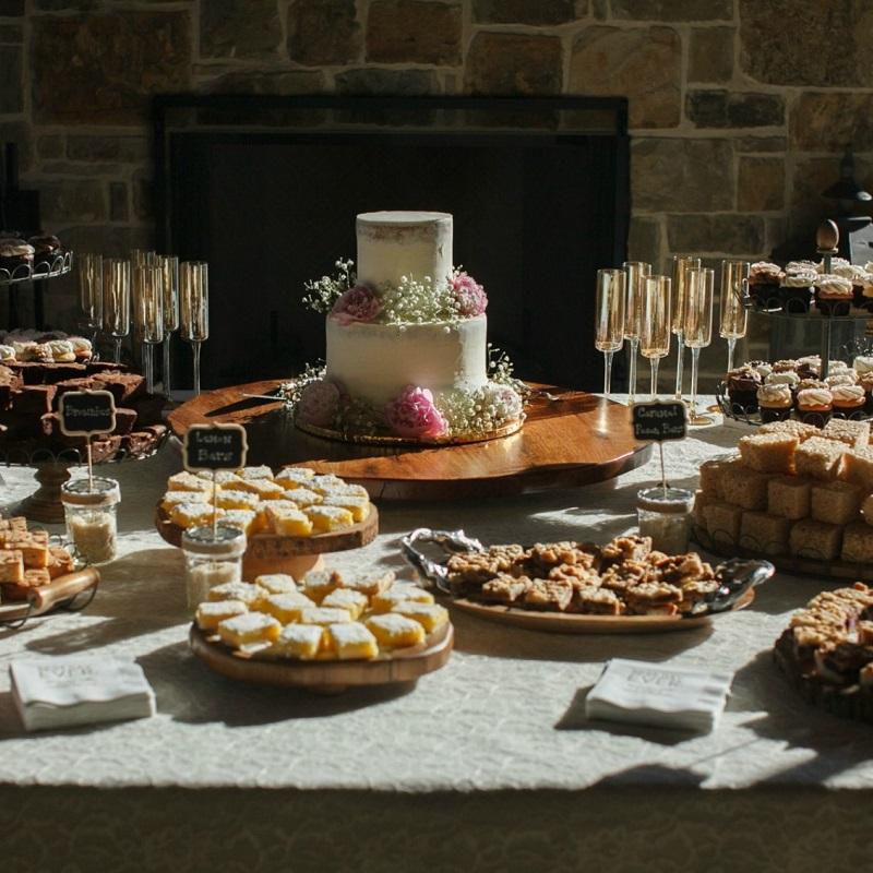 The couples wedding dessert table.
