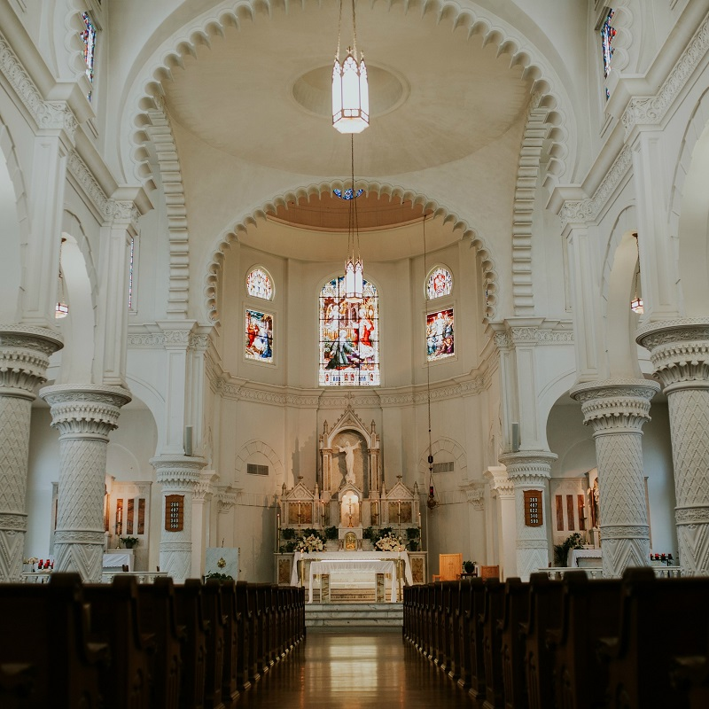 The beautiful church for the ceremony.