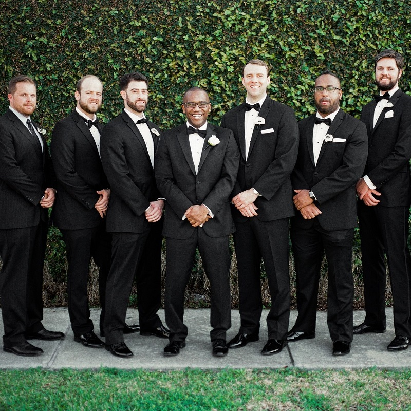 The groom and his groomsmen.
