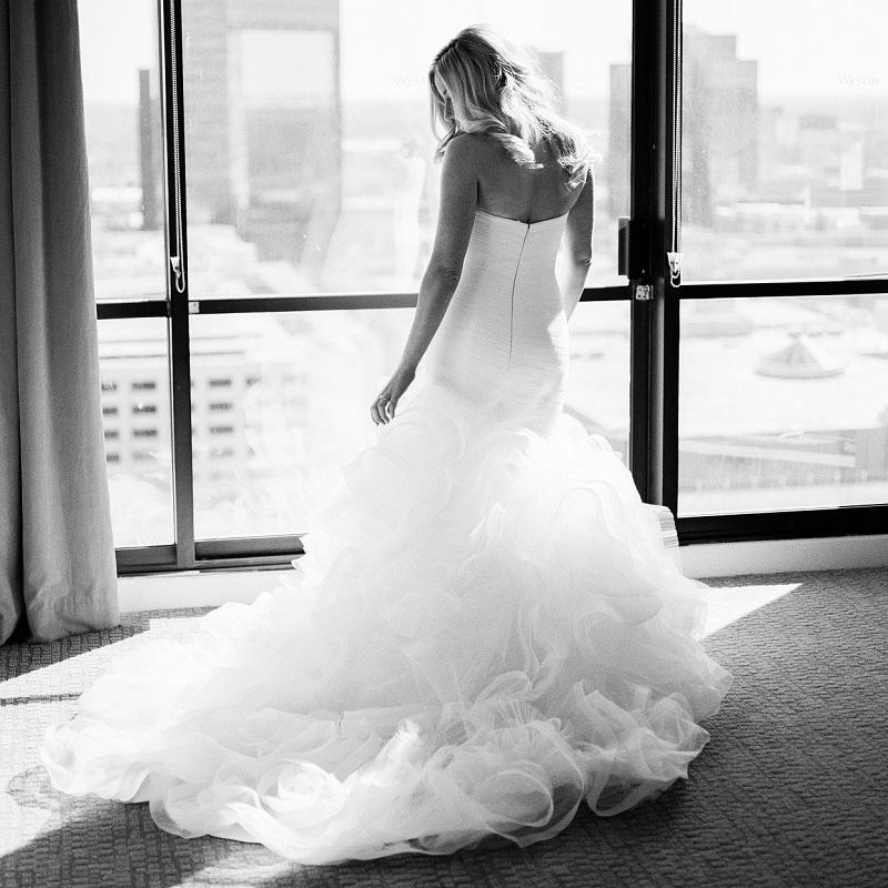 The bride prior to the ceremony.