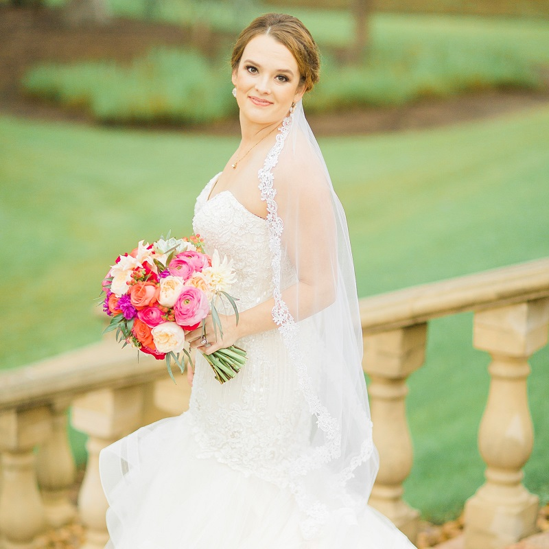 The beautiful bride prior to the wedding ceremony.