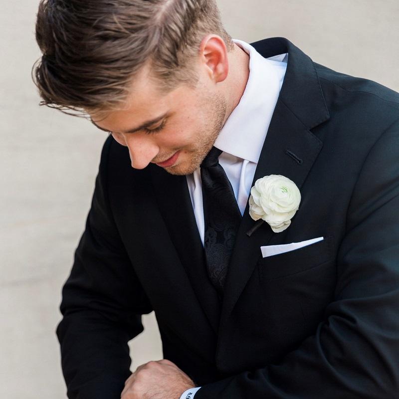 The groom prior to the wedding ceremony.