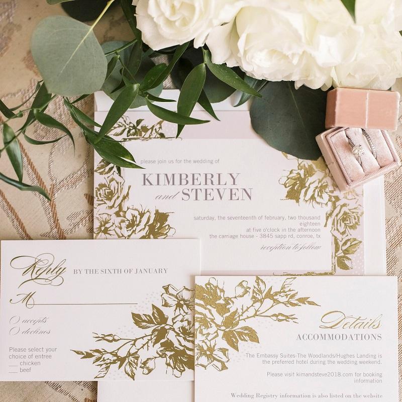 The wedding invitation suite.