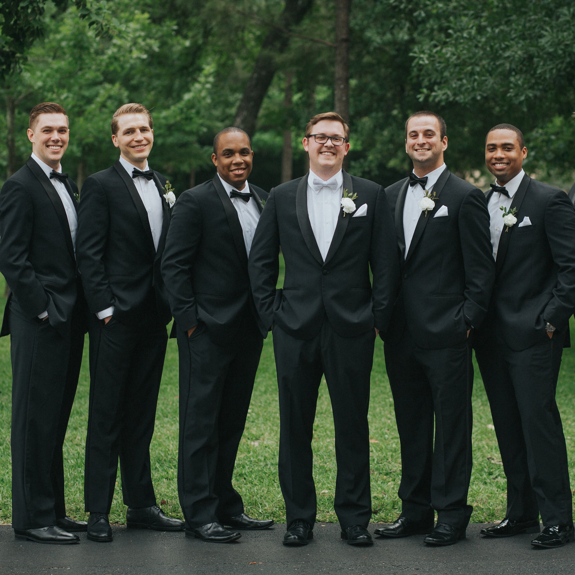The groom with his groomsmen.