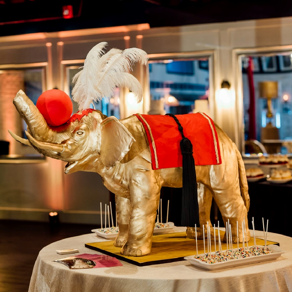 Elephant model cake for the Circus Soiree.