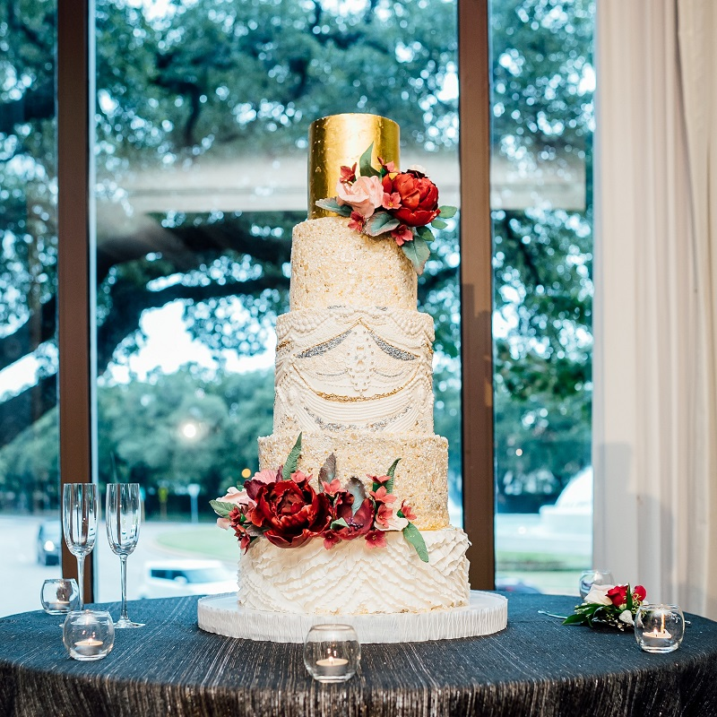 Custom wedding cake for the bride