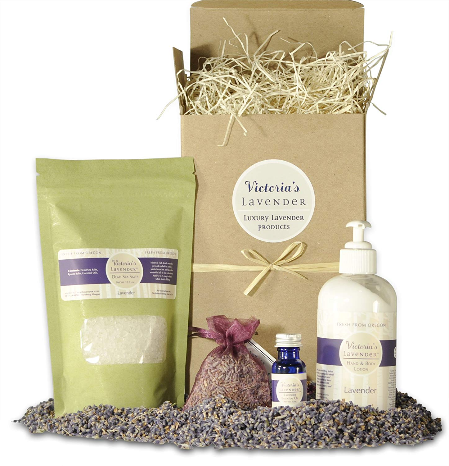 lavender spa gift set products