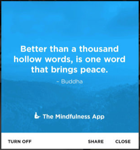 mindfulness meditation app screenshot