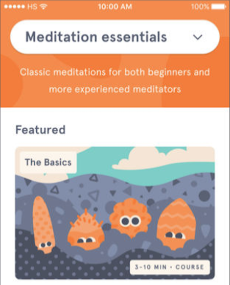 Headspace app screenshot