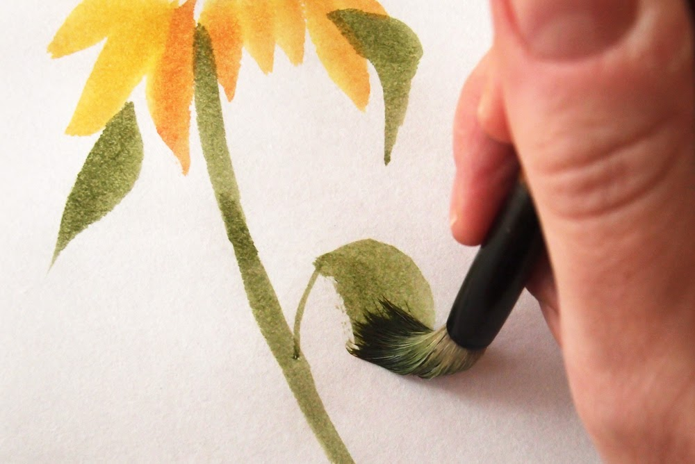 How to Paint Sunflowers With the Chinese Brush Painting Method