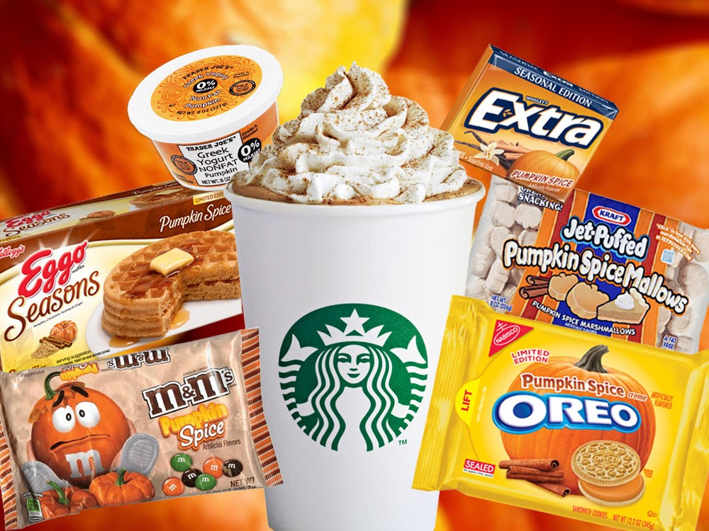 Image detailing how major food name brands capitalize on the pumpkin spice craze.