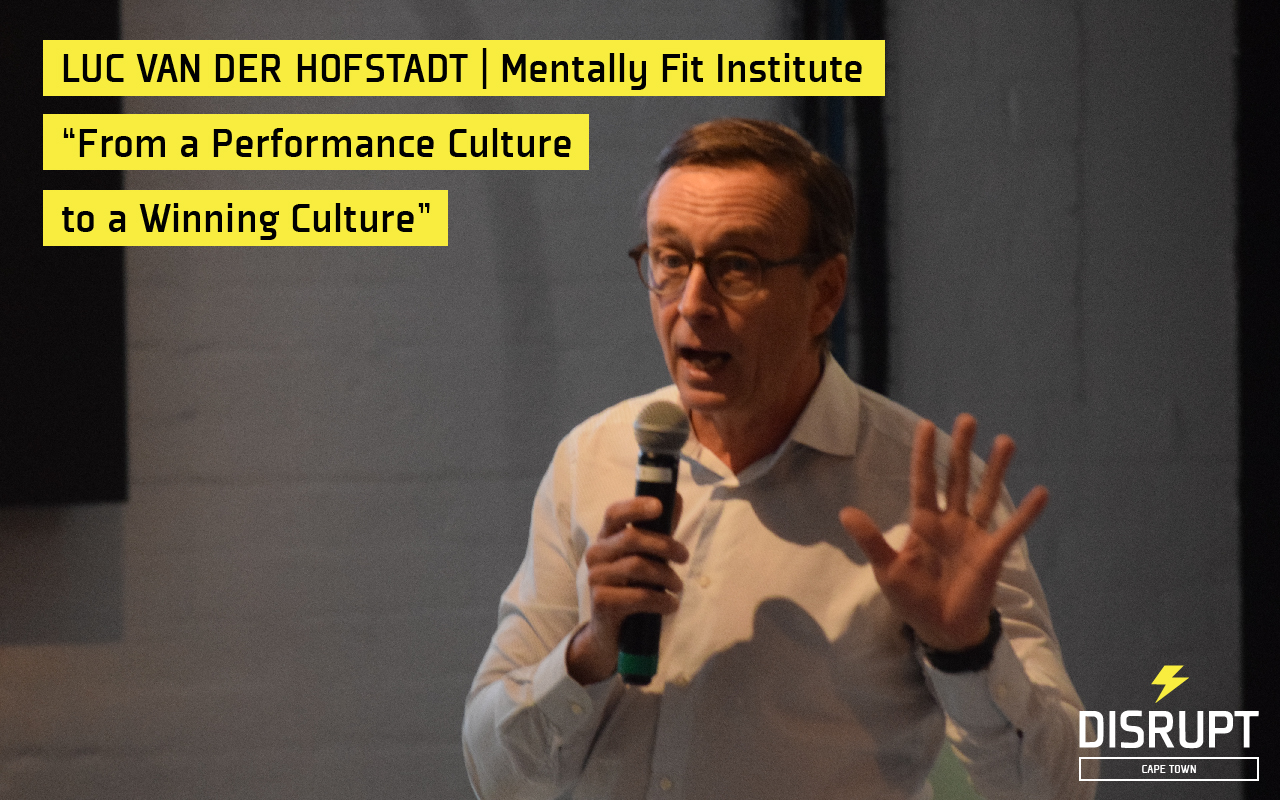 Luc van der Hofstadt at DisruptHR CPT #2