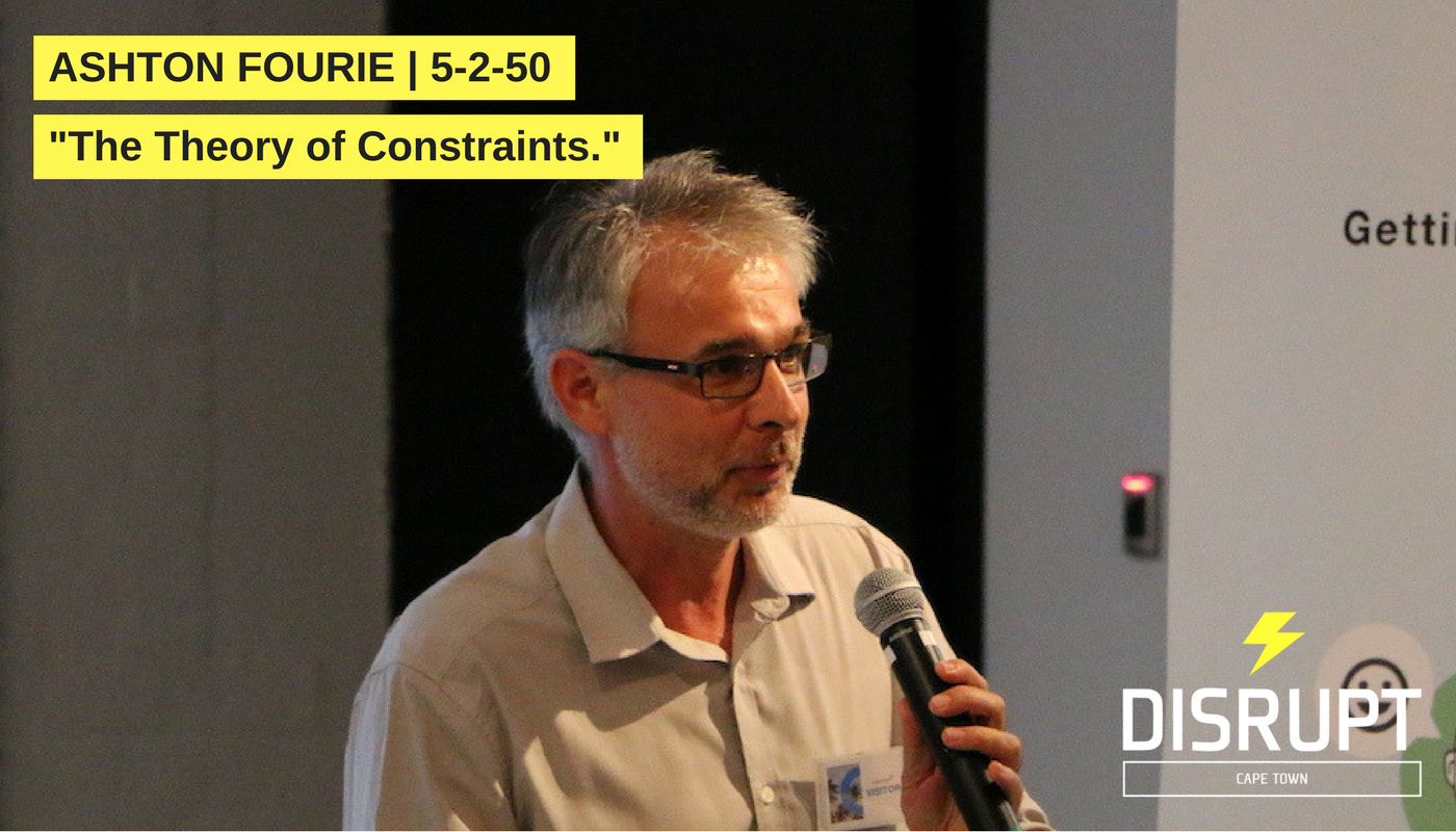 Ashton Fourie at DisruptHR CPT #3