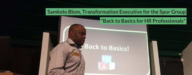 Samkelo Blom at DisruptHR CPT #1