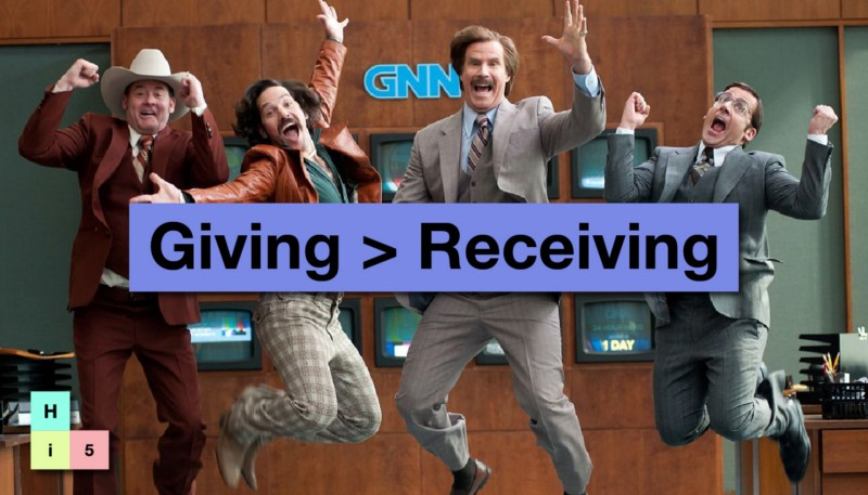 It's better to give than to receive