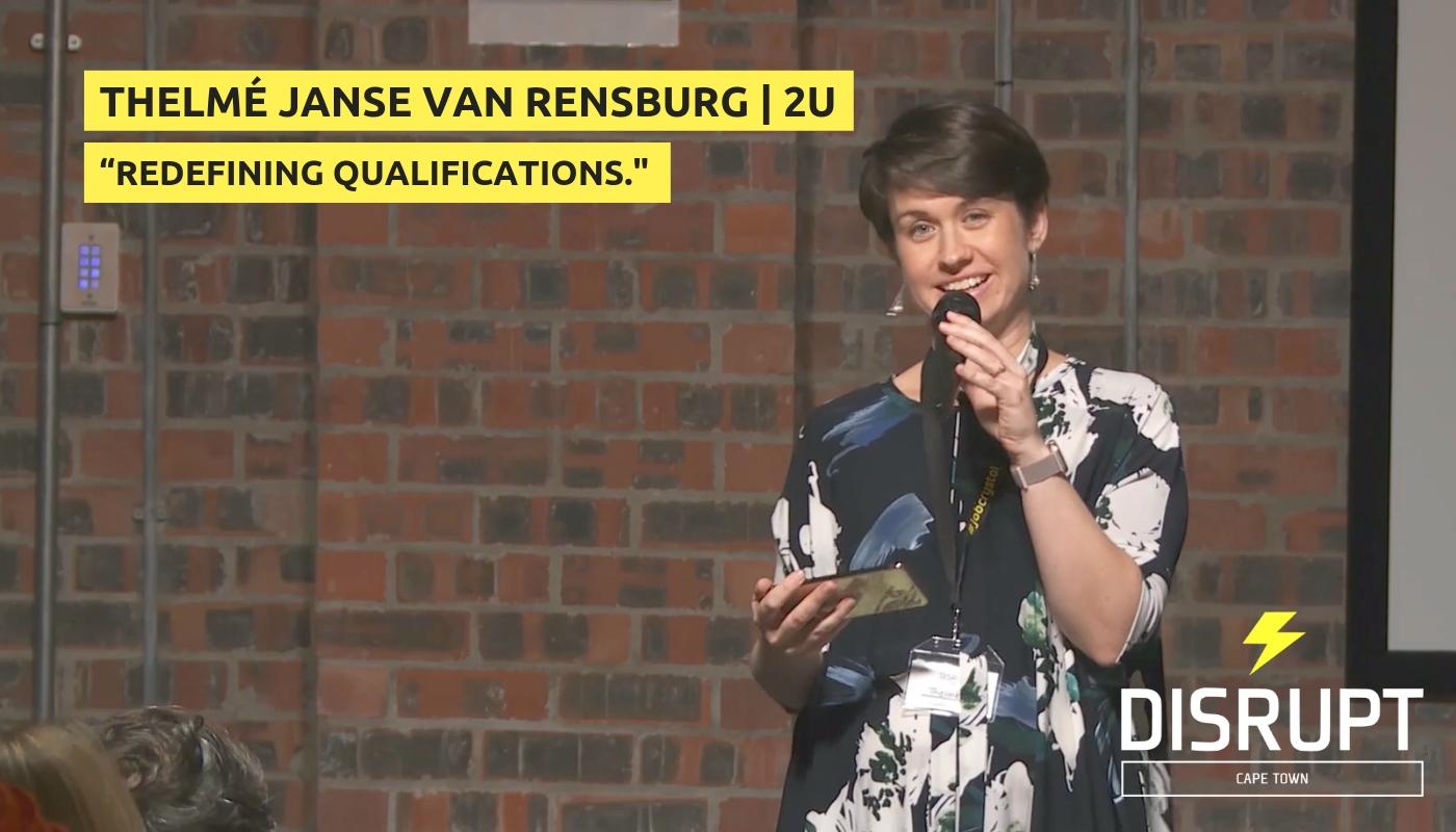 Redefining Qualifications - Thelmé Janse van Rensburg