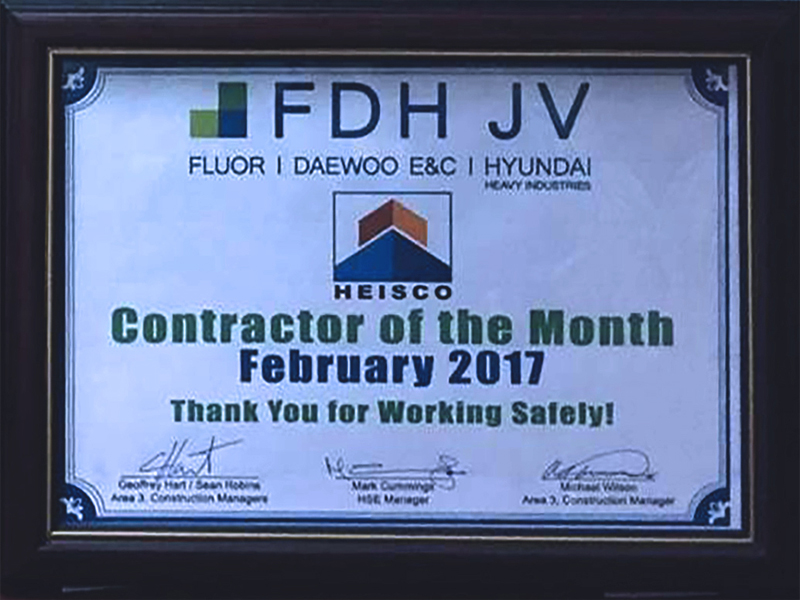 Heisco is the Best Contractor for FDH JV