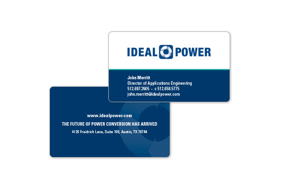 Ideal Power Business Cards