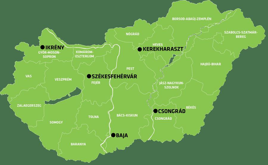RWA Hungary map