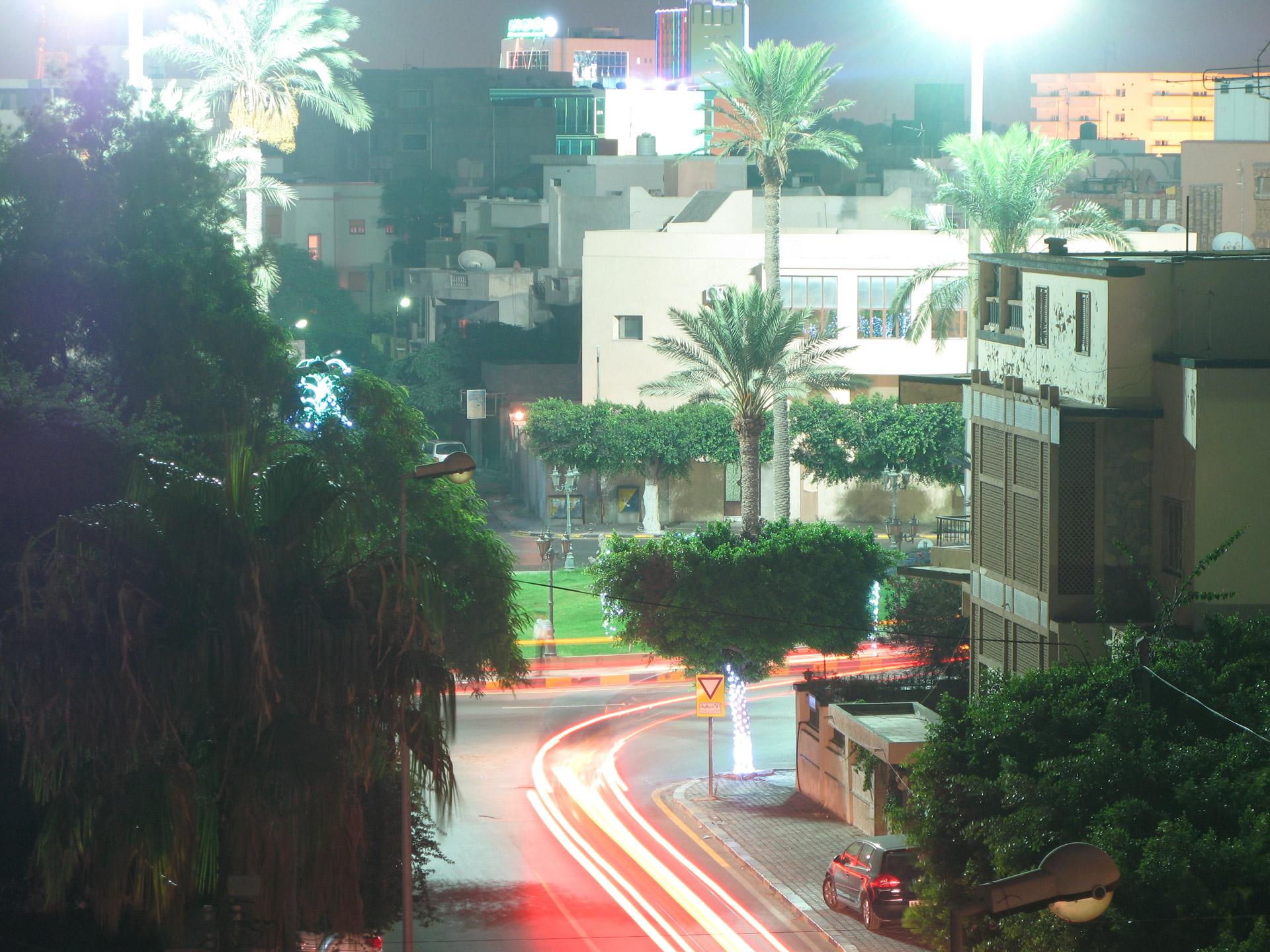 This is a series of long exposure photographs taken in Tripoli, Libya in the summer of 2009 from the rooftops of the city.