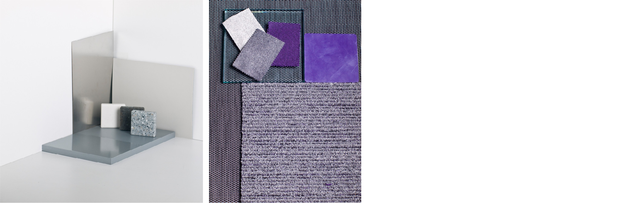 Material and finish samples.