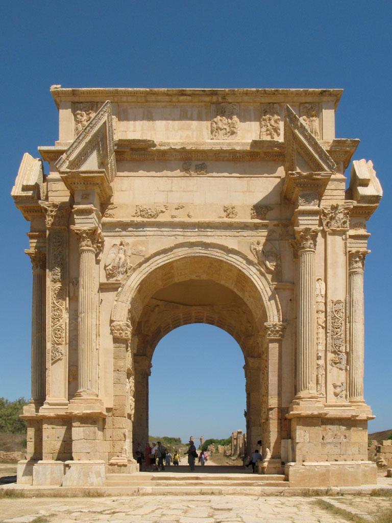 Arch of Septimius Severus, close view.