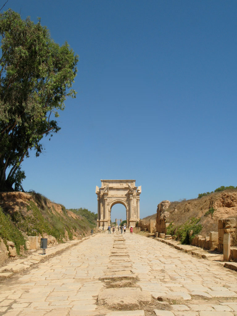 Approach to the Arch of Septimius Severus