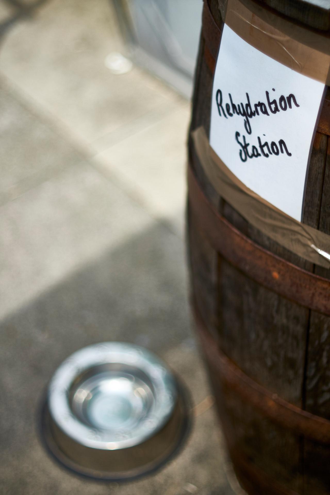 Rehydration station.