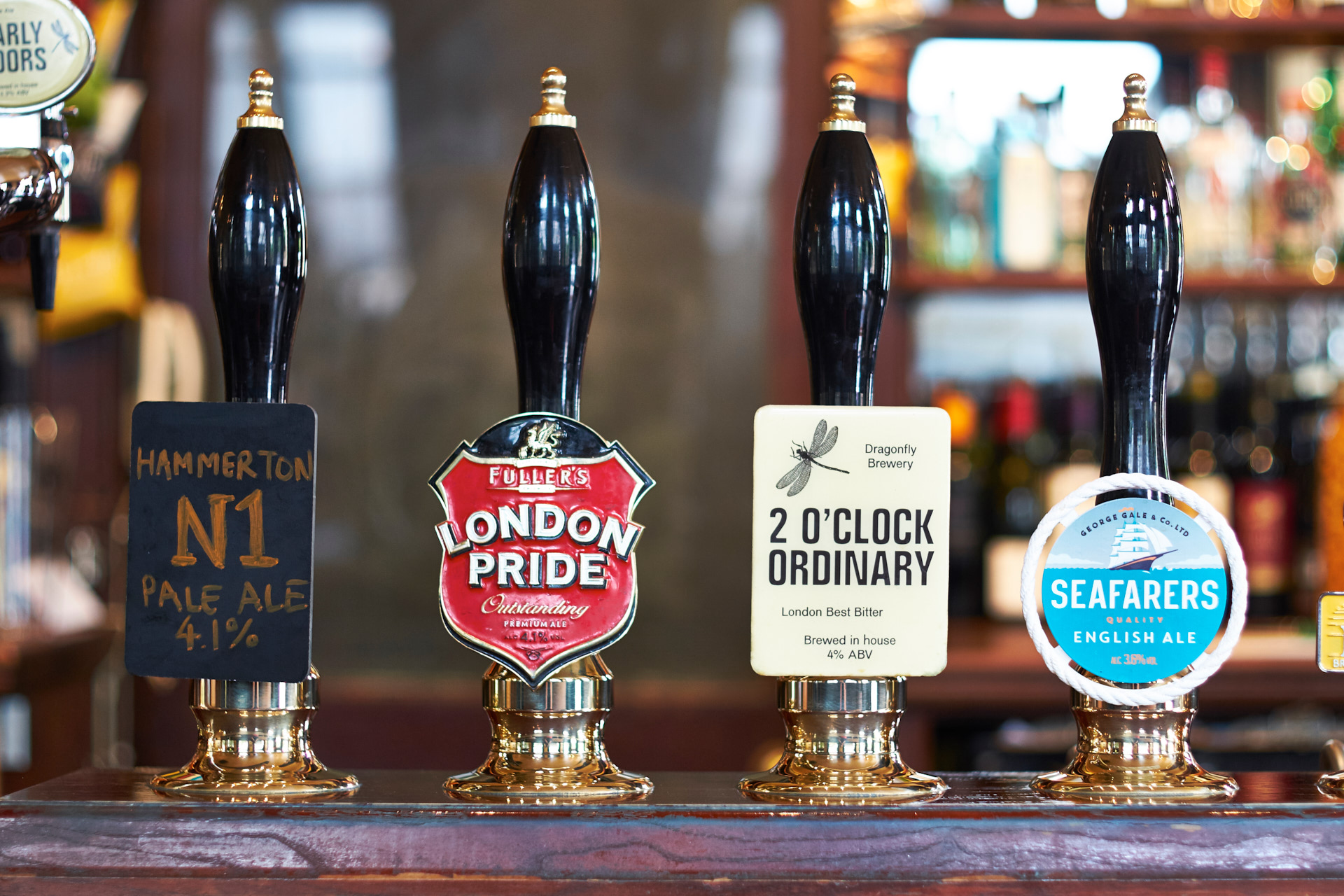 A fine selection of Cask Ales.