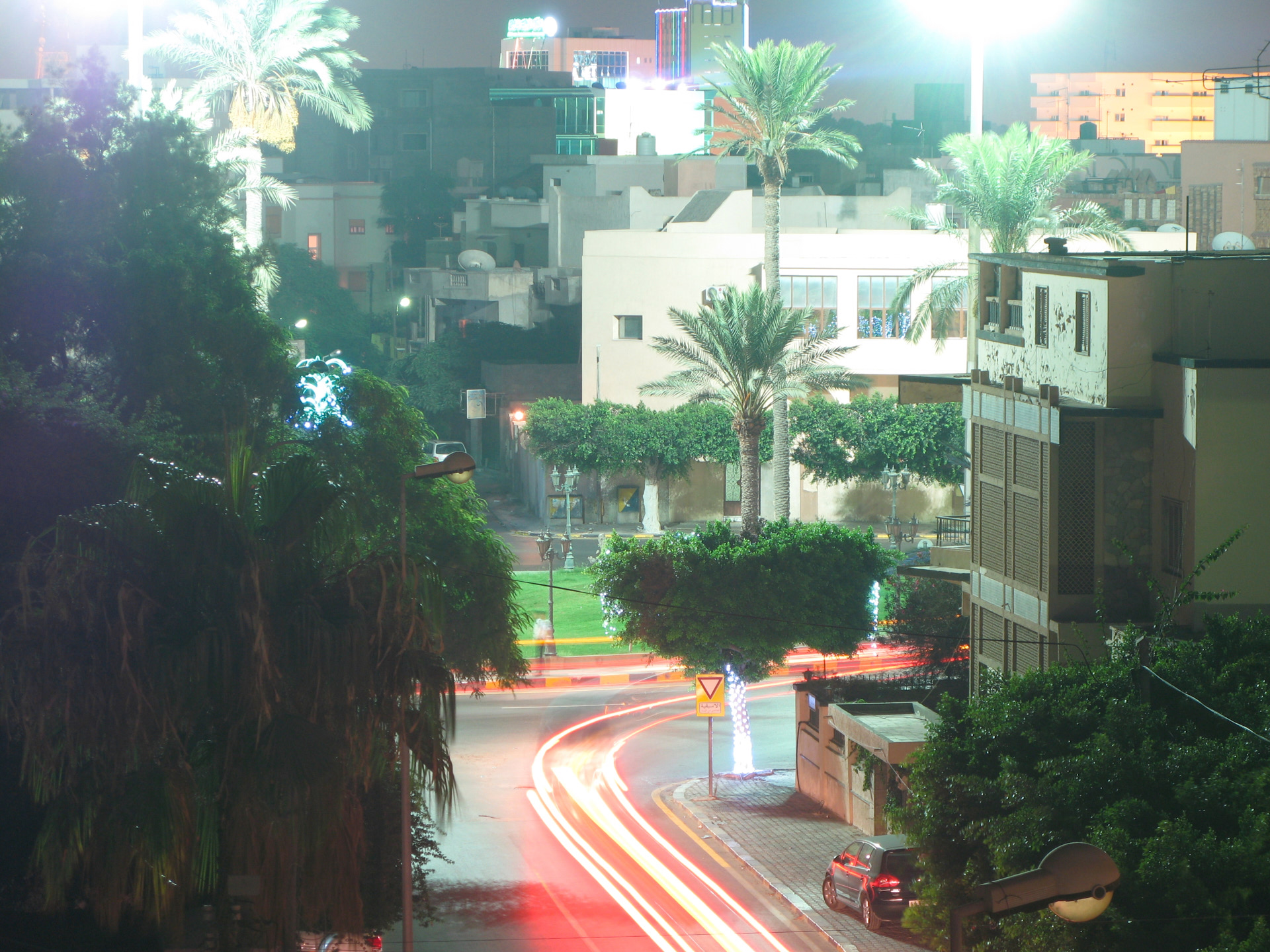 View to roundabout, Kahled Bin Walid Street. 2009, C-Type print.