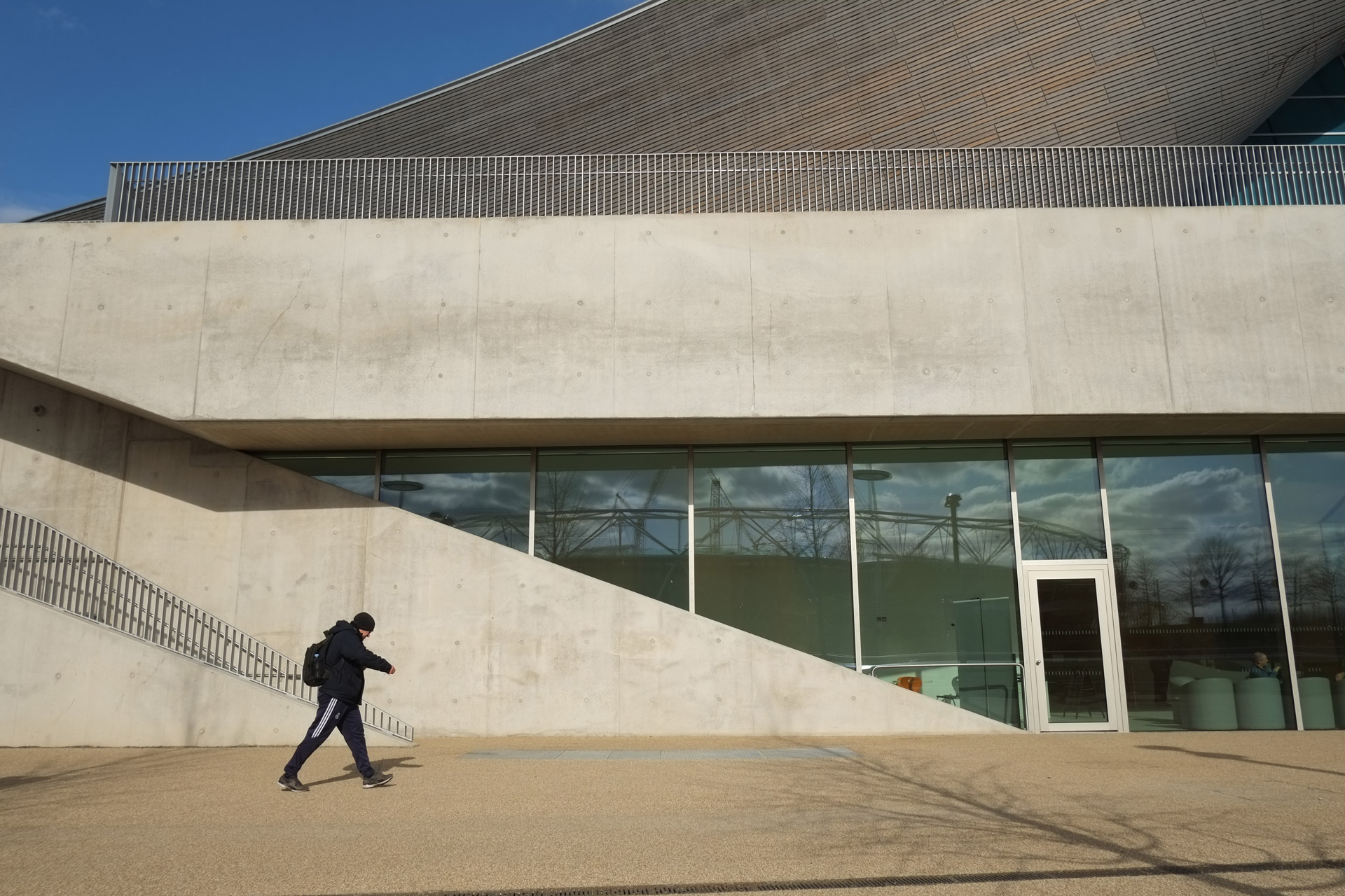 London Aquatics Centre (legacy mode), Public Entrance, March 2015.