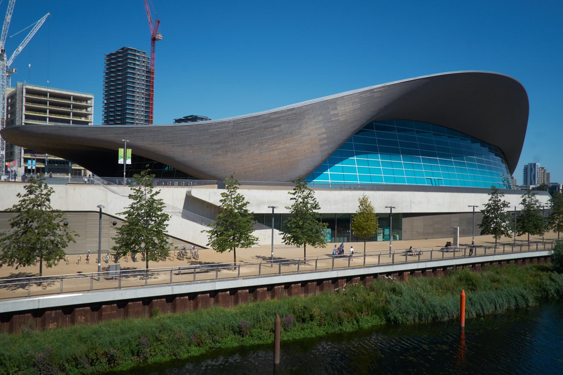 London Aquatics Centre, Zaha Hadid Architects, July 2016.