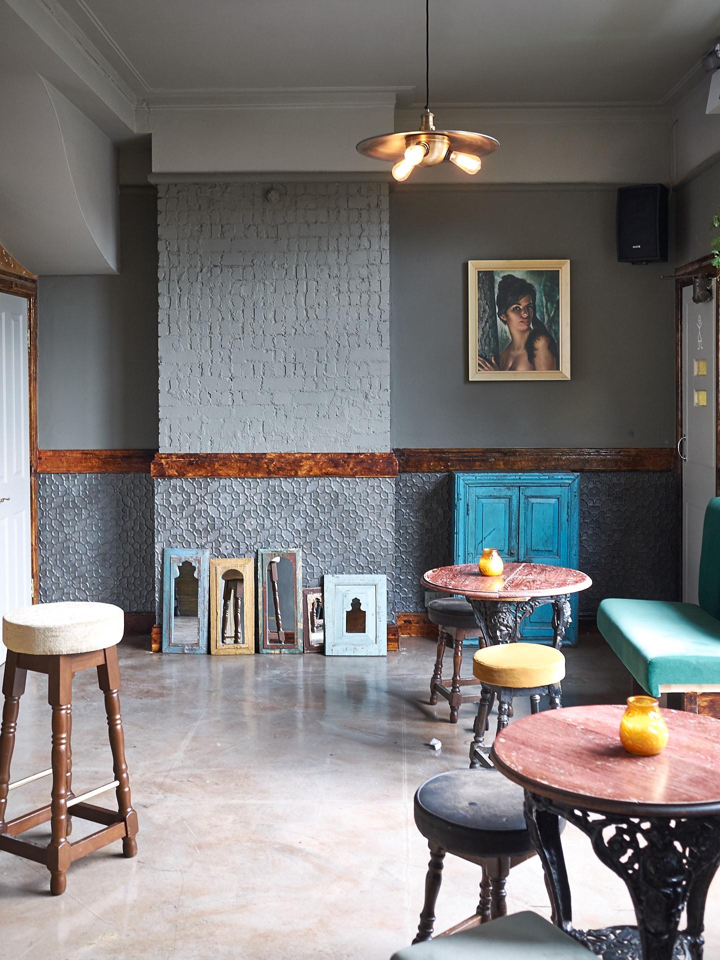 Pub interior after refurbishment.