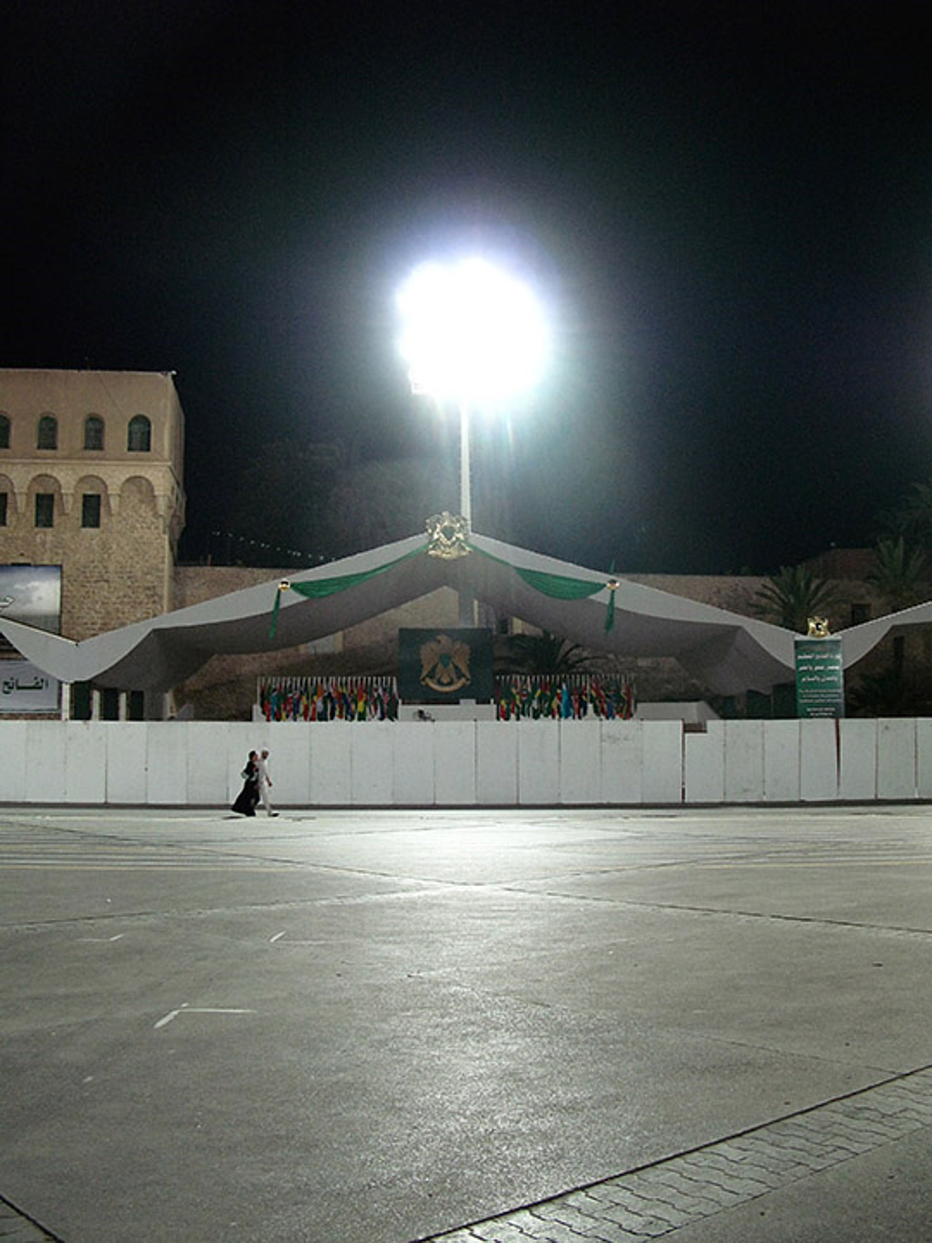 An evening walk in Green Square. Most of central Tripoli was off limits to the general public whilst the various military parades and celebrations were taking place.