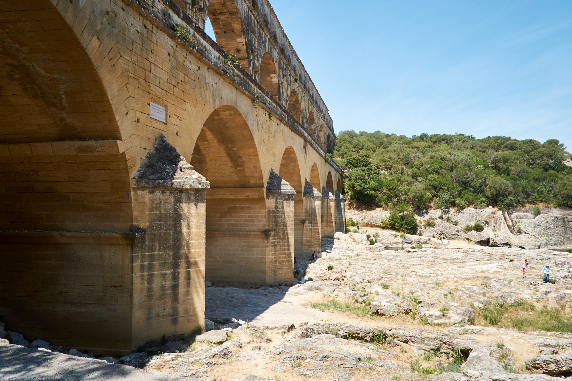 Photos of Pont du Gard. Avignon, France. July 2019