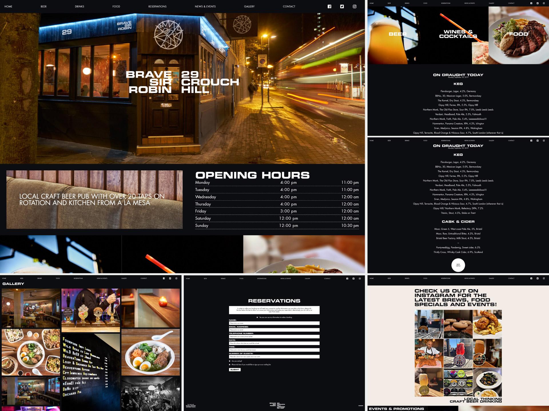 Website - desktop version