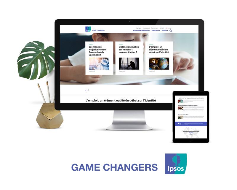 Projet site web Ipsos monde
