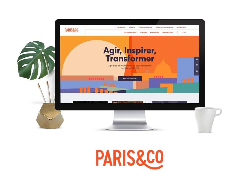 Projet site web Paris&Co