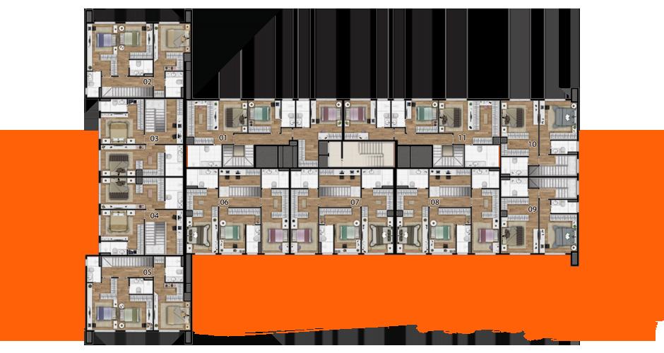 Implantação da penthouse superior