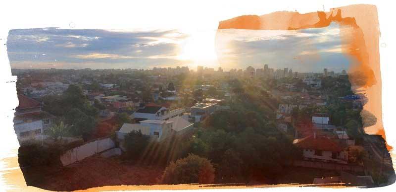 Vista do residencial Alba - Despertar das Mercês, em Curitiba, Paraná