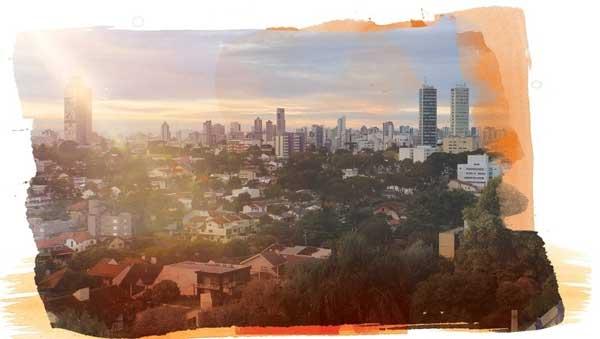 Vista aérea do residencial Alba - Despertar das Mercês, em Curitiba, Paraná