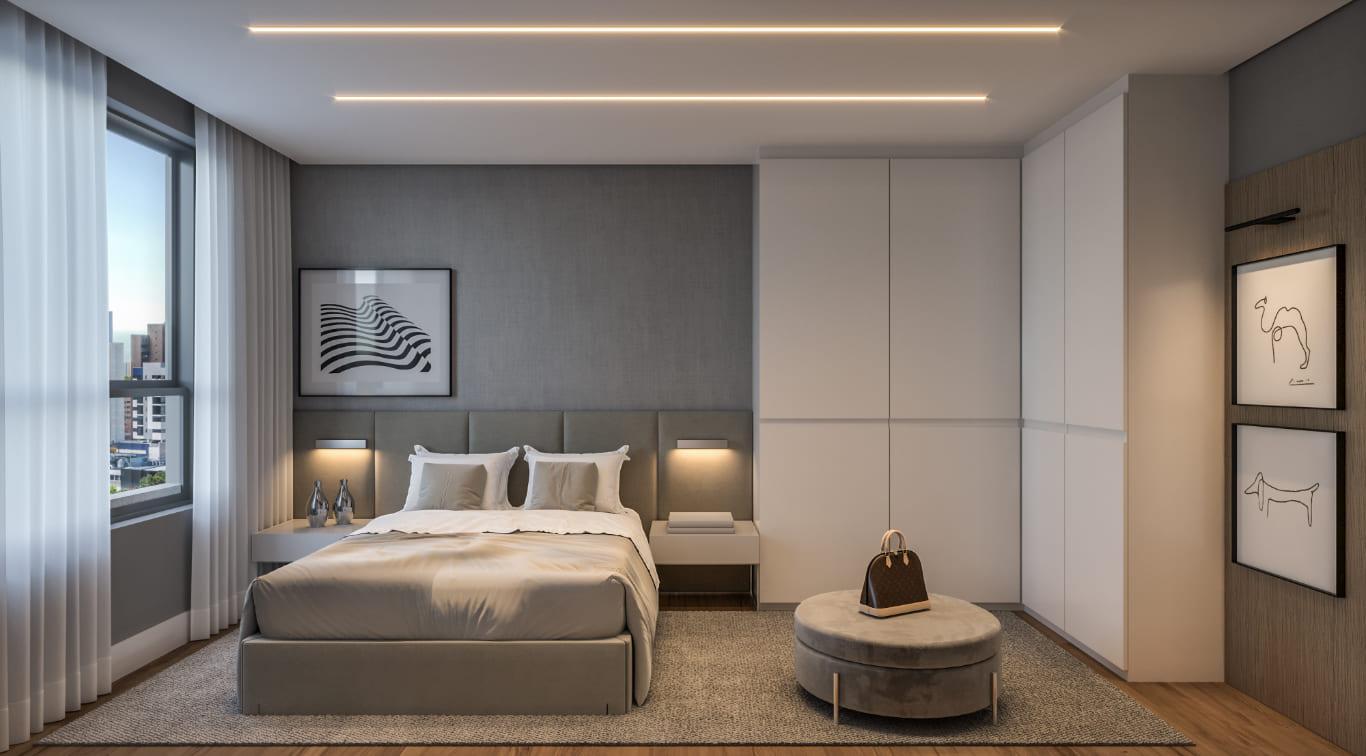 Suíte - Apartamento Tipo 3 quartos