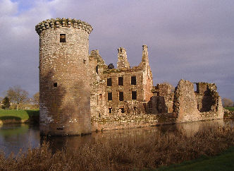 Near by to the Old Rectory is Caerlaverock Castle.