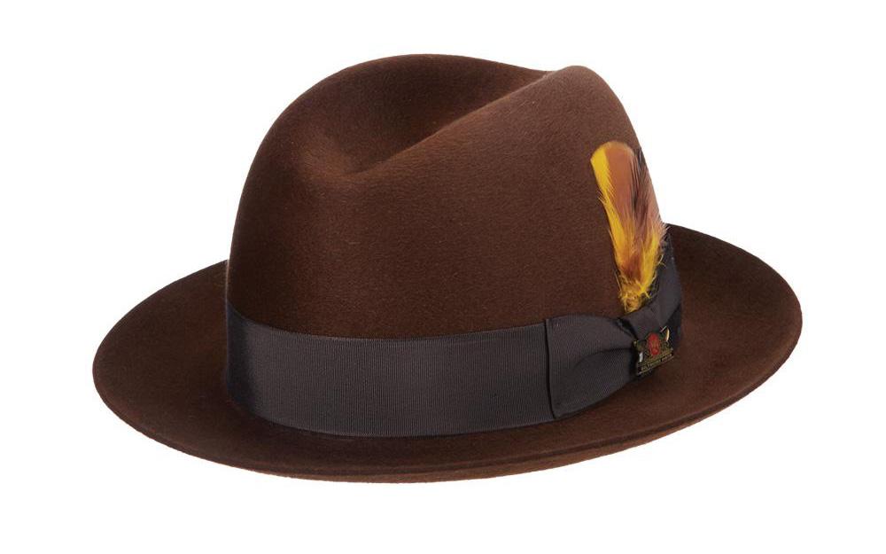 Anatomía de un sombrero: una guía para los términos del sombrero - Pliegue central